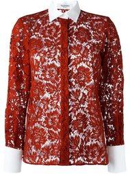кружевная рубашка  Valentino