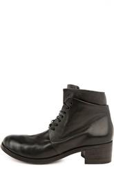 Кожаные ботинки на устойчивом каблуке Marsell