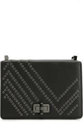 Кожаная сумка с металлическими заклепками Diane Von Furstenberg