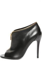Кожаные туфли с открытым мысом Tom Ford