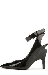 Лаковые туфли с ремешком на щиколотке Tom Ford