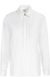 Хлопковая блуза прямого кроя Kenzo