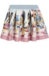 Расклешенная юбка с принтом Monnalisa
