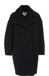Двуботное шерстяное пальто с отложным воротником Kenzo