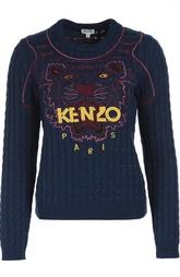 Пуловер фактурной вязки с вышивкой Kenzo