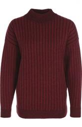 Шерстяной пуловер с воротником-стойкой DKNY