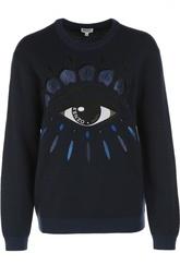 Вязаный пуловер с аппликацией Kenzo
