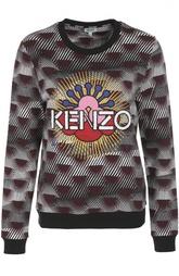 Хлопковый свитшот с вышивкой и принтом Kenzo