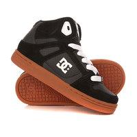 Кеды кроссовки высокие детские DC Rebound Tod Black/Gum