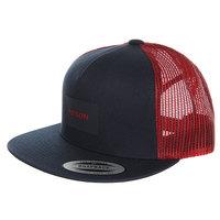 Бейсболка с сеткой Nixon Team Trucker Hat Navy/Red
