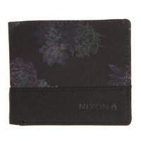 Кошелек Nixon Atlas Nylon Bi-fold Wallet Black/Anthracite