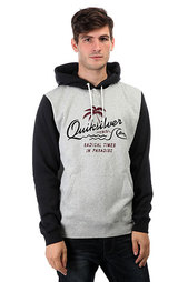 Толстовка кенгуру Quiksilver Longer Hoody Light Grey Heather