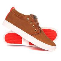 Кеды кроссовки высокие Quiksilver Griffin Brown/Orange