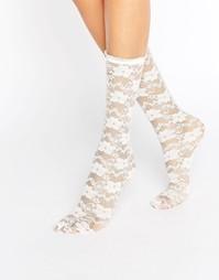Белые кружевные носки Gipsy - Белый