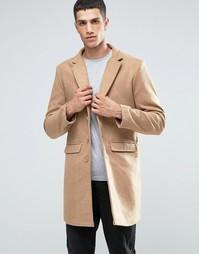 Пальто из смесовой шерсти Another Influence - Рыжий