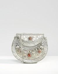 Металлическая сумка с ручной гравировкой Park Lane - Серебряный