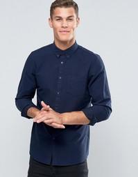 Темно-синяя оксфордская рубашка классического кроя Jack Wills - Темно-синий