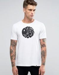 Белая футболка узкого кроя с логотипом Pretty Green - Белый