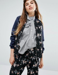 Куртка-пилот с цветочным принтом Miss Selfridge - Мульти