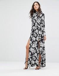 Платье макси с открытой спинкой Flynn Skye Cedar - Черный
