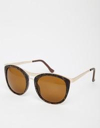 Большие солнцезащитные очки AJ Morgan - Коричневый