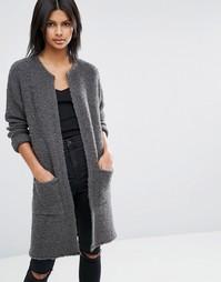 Пальто-кардиган из ткани букле ASOS - Серый