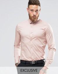 Стретчевая рубашка скинни Only & Sons - Розовый