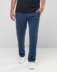 Темно-синие меланжевые джоггеры прямого кроя с принтом логотипа Hollister - Темно-синий