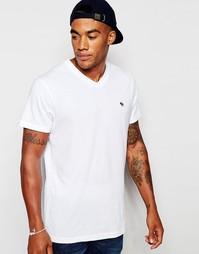 Белая футболка классического кроя Abercrombie & Fitch - Белый