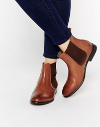 Кожаные ботинки челси H By Hudson Wexford - Рыжий