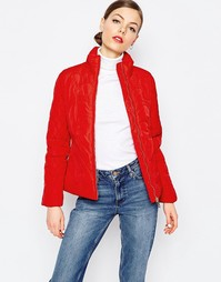 Love Moschino Quilted Heart Coat - Красный