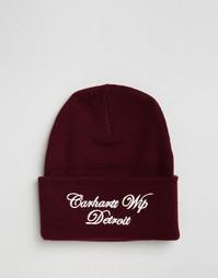Шапка-бини с надписью Carhartt WIP - Красный