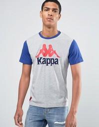 Футболка с крупным логотипом Kappa - Серый