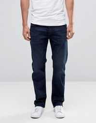 Темно-синие прямые джинсы Diesel Waykee 677J - Синий