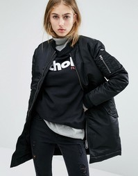 Удлиненная куртка‑пилот Schott - Черный