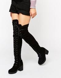 Ботфорты на шнуровке Truffle - Черный