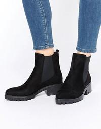 Черные ботинки челси с острым носом Lost Ink Adle - Черный