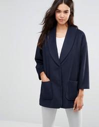 Пальто-бушлат Unique 21 - Темно-синий