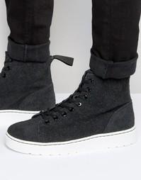 Ботинки с 8 парами люверсов Dr Martens Talib - Серый