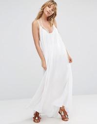 Расклешенное пляжное платье макси Vince Camuto - Белый