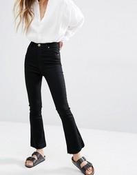 Укороченные джинсы с легким клешем и завышенной талией Rollas Eastcoast - Черный Rollas