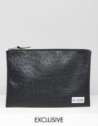 Сумка-чехол из искусственной страусиной кожи Hype Exclusive - Мульти