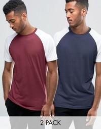 2 футболки с рукавами реглан Brave Soul - Темно-синий