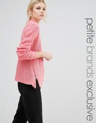 Джемпер с высокой горловиной и молнией Noisy May Petite - Розовый