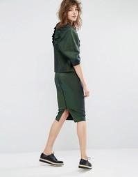 Длинная облегающая юбка Essentiel Antwerp Miscounsin - Зеленый