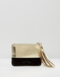 Кожаный кошелек для мелочи Urbancode - Черный