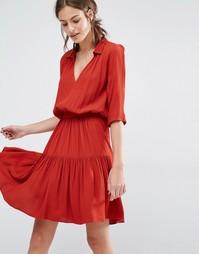 Платье с ярусной юбкой Ba&sh Laura - Красный Ba&Sh