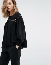 Блузка со вставками с вырезным узором Ba&sh Jimmy - Черный Ba&Sh
