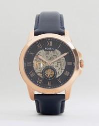 Часы с кожаным ремешком Fossil Grant - Темно-синий