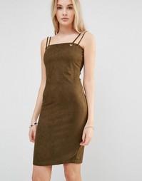 Платье-футляр с двойными бретельками Love & Other Things - Зеленый